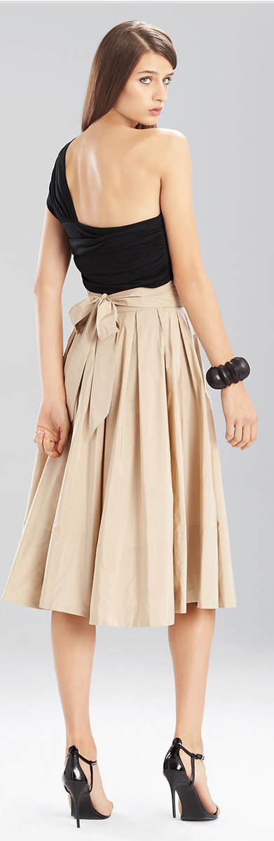 Josie Natori Taffeta Skirt
