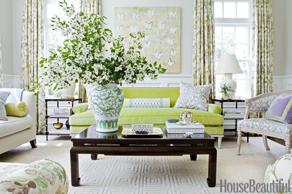 Pantone Greenery Living Room | Ashley Whittaker
