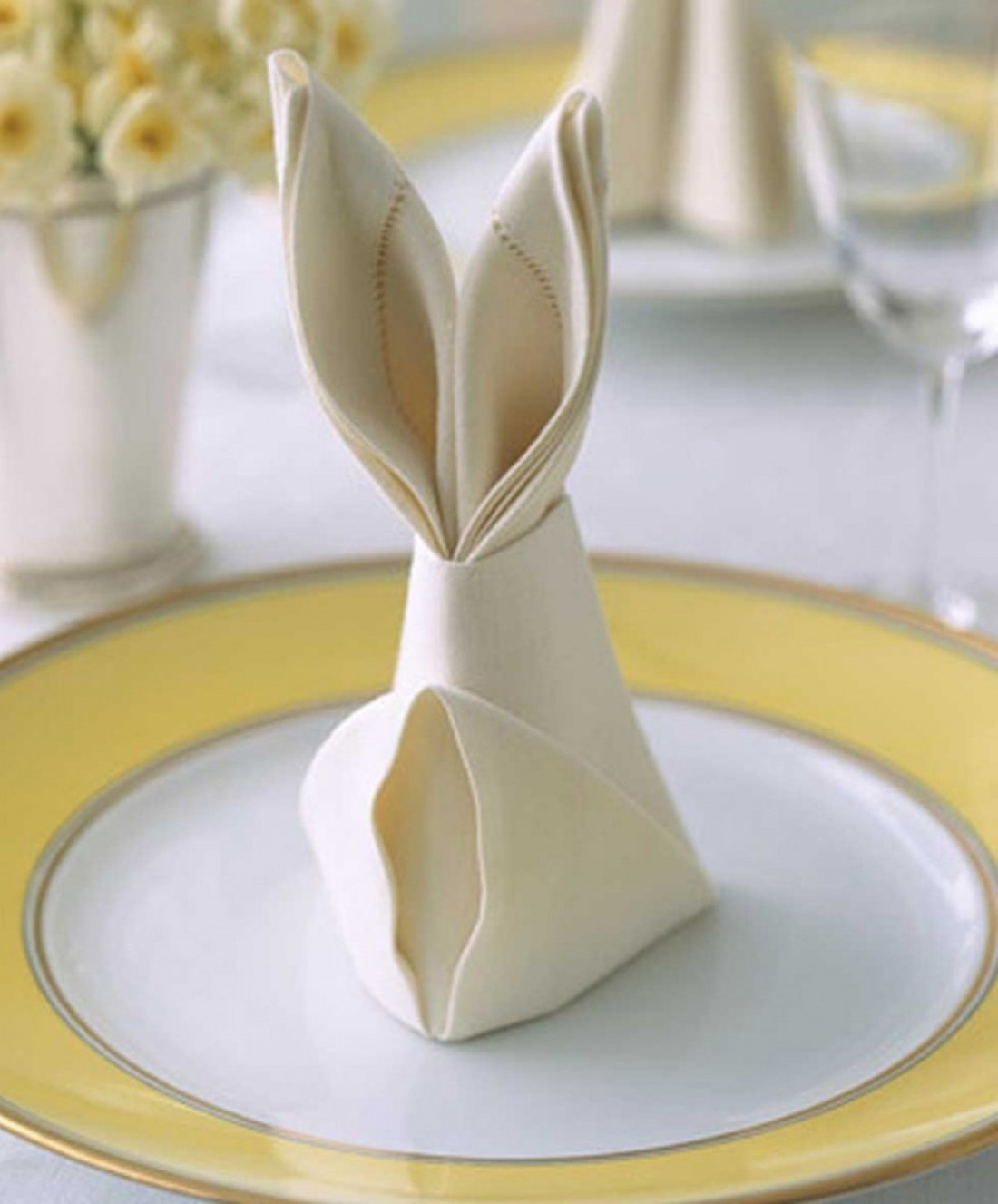 Easter Decorating Ideas | Bunny Napkins