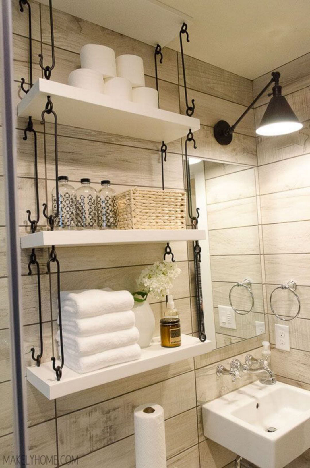 Glam bathroom designed by ferris rafauli glamorous bathrooms for Small bathroom designs bloggers