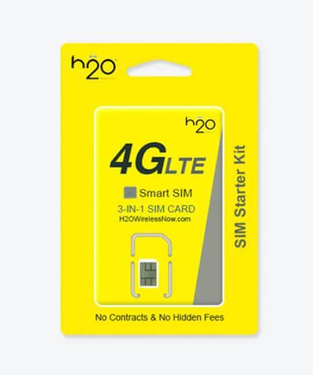 image of h2o wireless prepaid Plans /family plan SIM Card