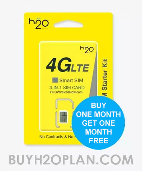 image of H2O Wireless Free Month offer $30 plan