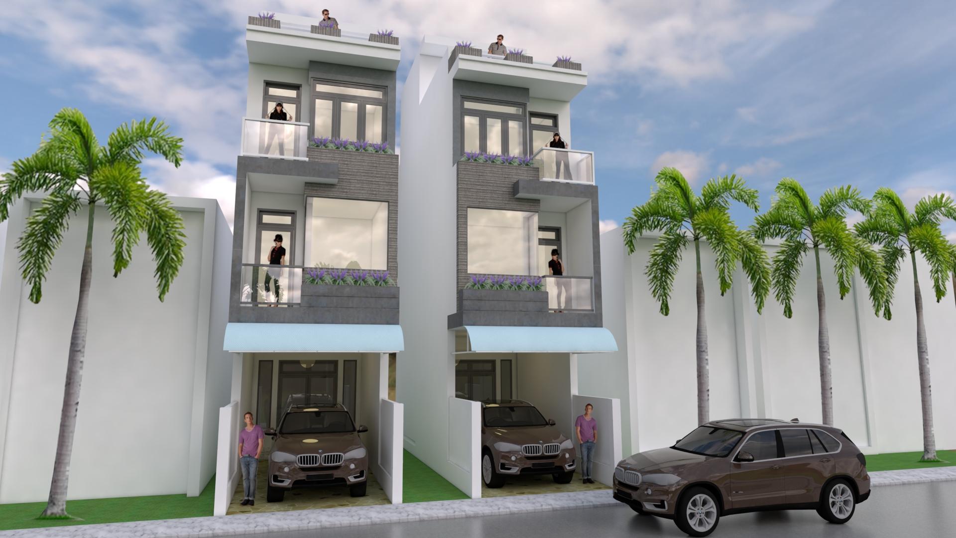 Sketchup Modern Narrow House Design 3.5 x 18 meter ...