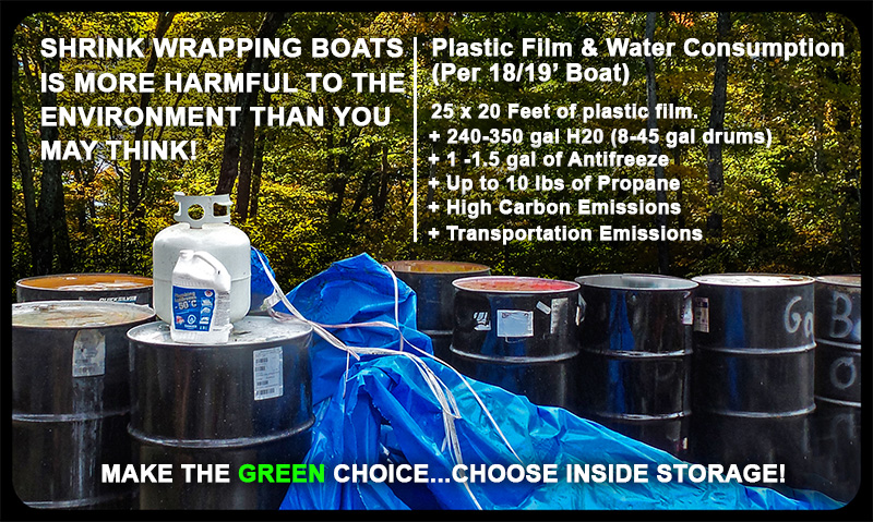 Shrink Wrap Boat Storage