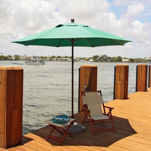 FiberBuilt Lucaya 11-ft- best beach umbrella