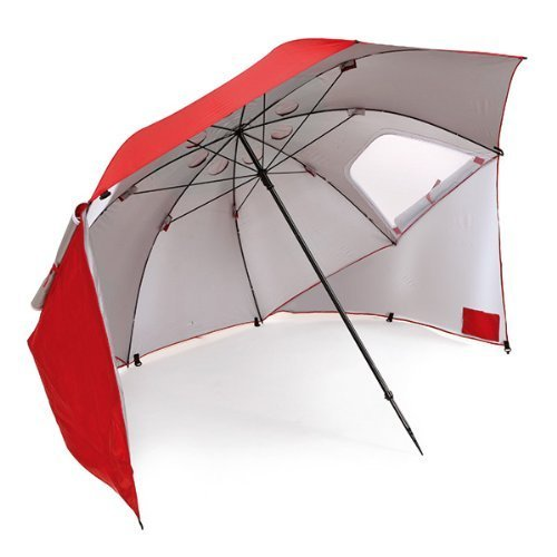 Sport-Brella Portable All-Weather and Sun Umbrella. 8-Foot Canopy (Red)-15 best beach umbrella