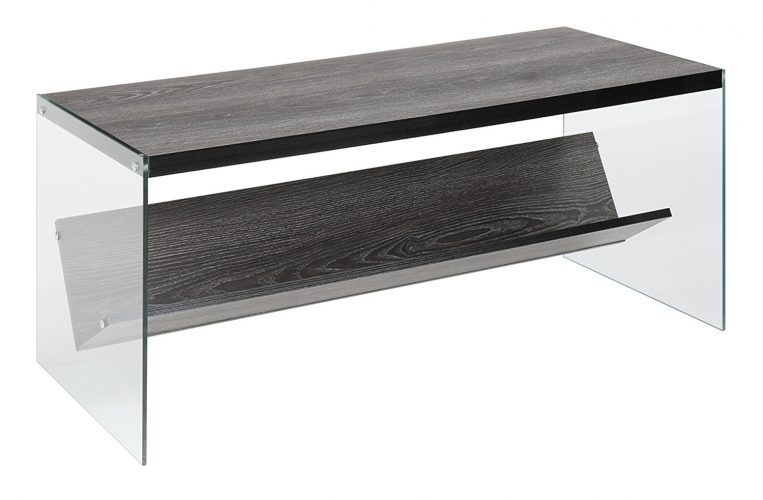 Convenience Concepts Soho Coffee Table, Weathered Gray