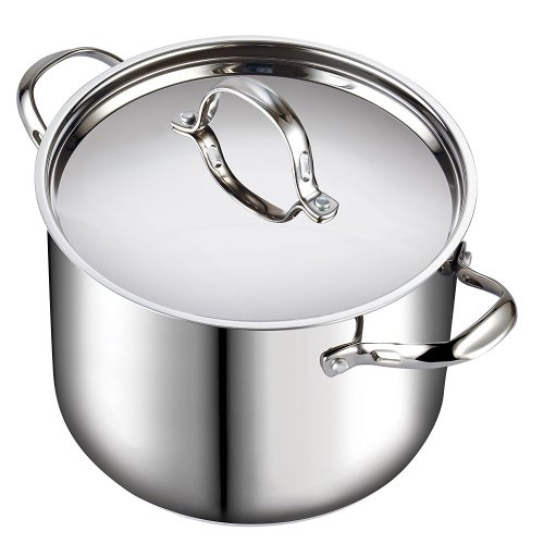 Cooks Standard Classic 02520 12 quart Stainless Steel Stockpot with Lid, Large, Silver - Stainless Steel Pot