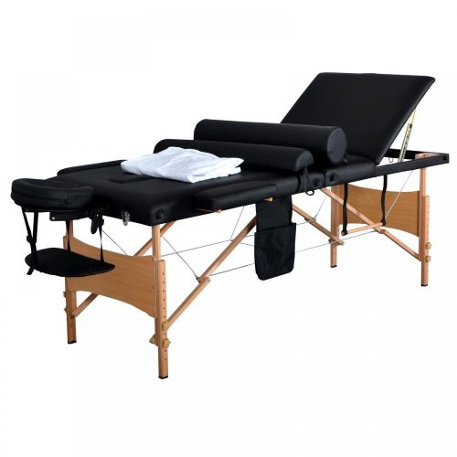 """New 84""""L 3 Fold Massage Table Portable Facial Bed W/ Sheet Bolsters Carry Case 3 - Portable Massage Tables"""