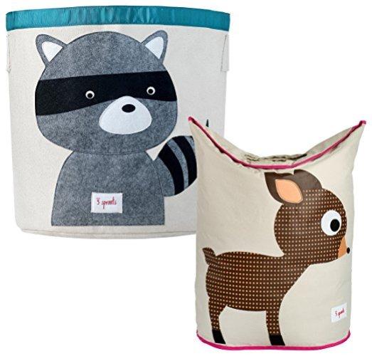 3 Sprouts Laundry Hamper, Deer - Nursery Hampers