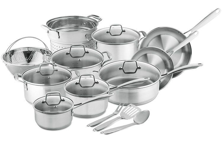 Chef's Star Professional Grade Stainless Steel 17 Piece Pots & Pans Set - pots pans sets