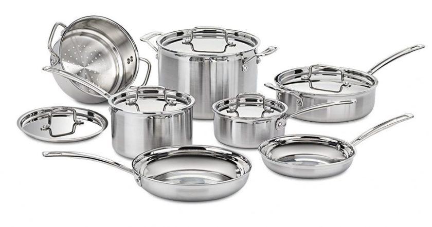 Cuisinart MCP-12N Multiclad Pro Stainless Steel 12-Piece Cookware Set - pots pans sets