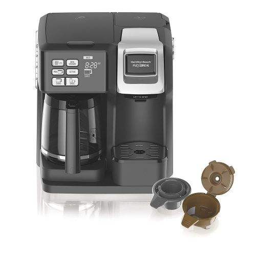 Hamilton Beach 49976 Flex brews 2-Way Brewer Programmable Coffee Maker, Black - Single Cup Maker