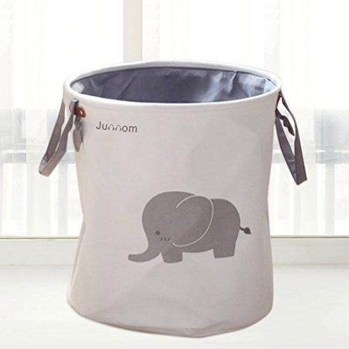 Junnom Storage Baskets, Junnom Collapsible & Convenient Laundry Bin - Nursery Hampers