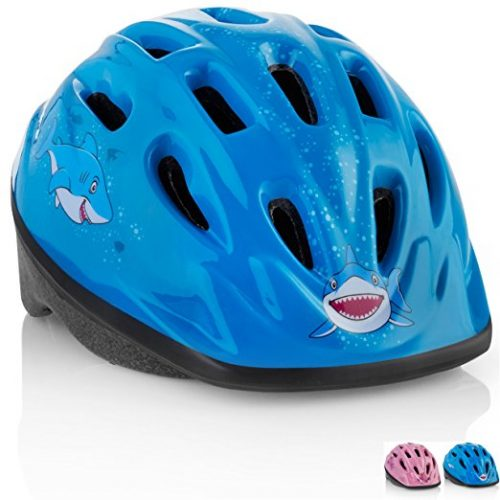 KIDS Bike Helmet – Adjustable from Toddler to Youth Size, Ages 3-7 - Durable Kid Bicycle Helmets with Fun Aquatic Design - Bike Helmets For Kids