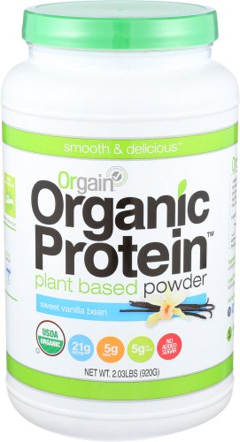 Orgain Organic Plant Based Protein Powder, Sweet Vanilla Bean, 2.03 Pound - Protein Powders