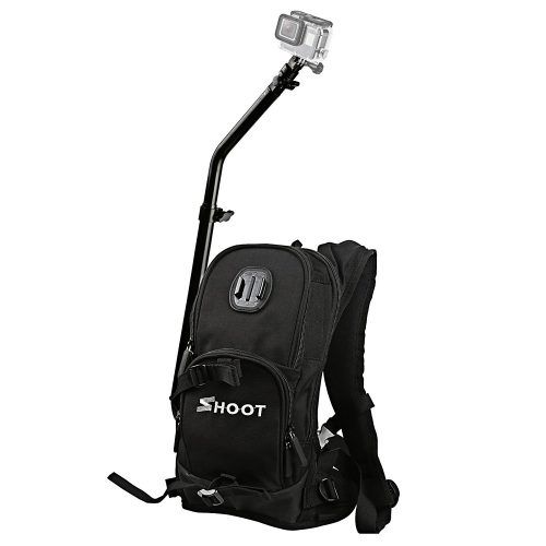 SHOOT Selfie Pro Backpack Quick Assembly Guide Sports Bag Accessories for GoPro Hero 6/5/4/3+/3 Accessories Xiaoyi Yi 2 4K/ YI 4K+ SJCam Action Camera for Bicycle Shooting Skiing Cycling - GoPro Backpack