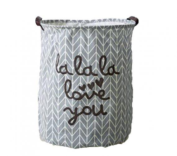 Top Estore Large Storage Foldable Laundry Basket Storage Hamper Waterproof Laundry Basket (Gray) - Nursery Hampers