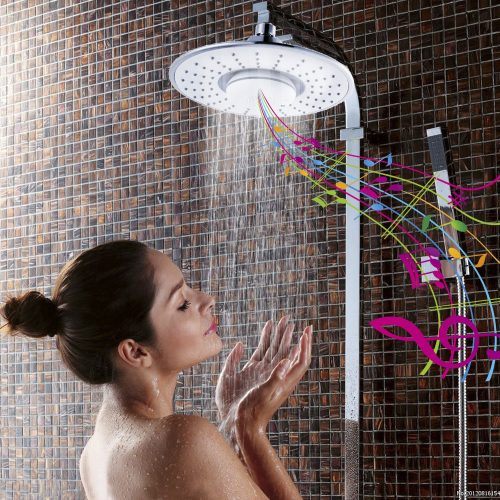 iRainy SH-BS07 Showerhead W Waterproof Wireless Bluetooth Speaker for Music & Phone Call in Bath With iRainy SH-BS07 Showerhead W Waterproof Wireless - Bluetooth Wireless Shower Heads