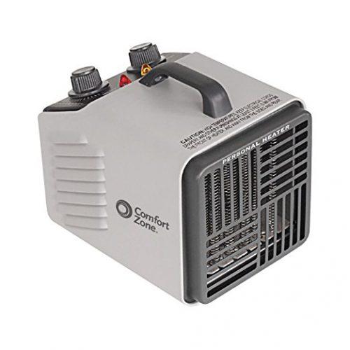 Comfort Zone Personal Heater Fan | Two Heat Settings - Battery Operated Heaters