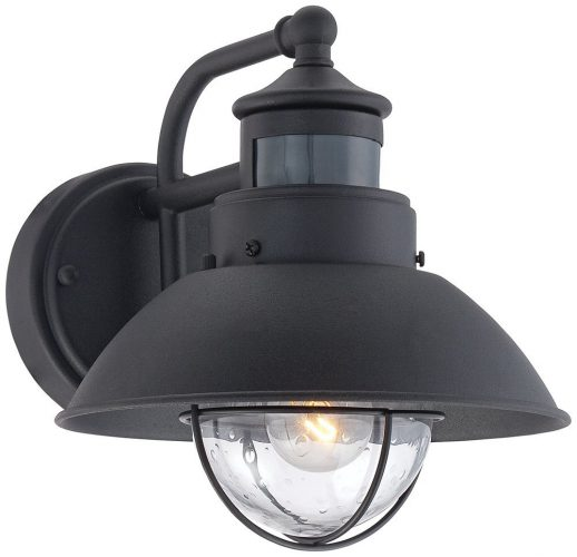 Fallbrook 9 inch Outdoor Motion Sensor Light with H Black and works with the Dusk to Dawn Feature - Motion Sensor Lights