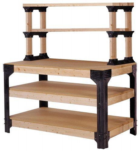 Hopkins 90164 2x4basics Workbench and Shelving Storage System - Portable Workbench