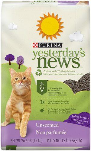 Purina Yesterday's News Unscented Cat Litter - Clumping Cat Litter