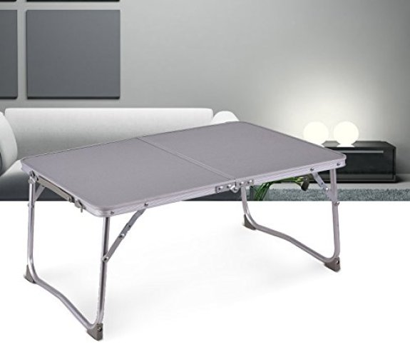 Reliancer Foldable Laptop Table for Bed Portable Outdoor Camping Picnic Table - Folding Camping Table