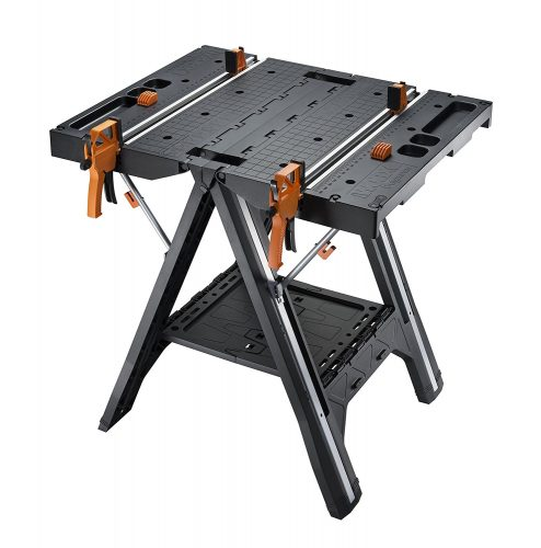 WORX Pegasus Multi-Function Work Table and Sawhorse with Quick Clamps and Holding Pegs – WX051 - Portable Workbench