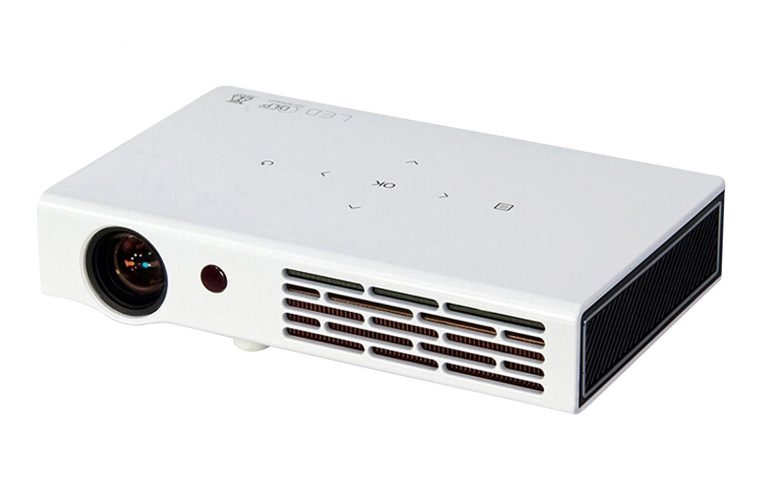 ZAZZ DLP LED Portable Multimedia Wi-Fi Short Throw Projector with HDMI (White) - Short Throw Projectors