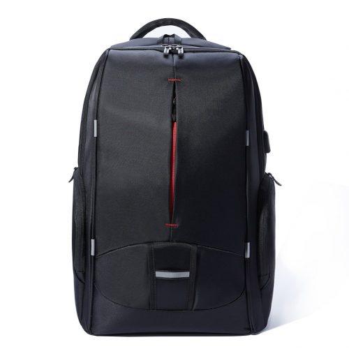17.3 Inch Laptop Backpack with USB Port, KALIDI Waterproof Rucksack Lightweight Notebook Bag Hiking Knapsack Student Backpack, Black - 17-inch laptop backpacks