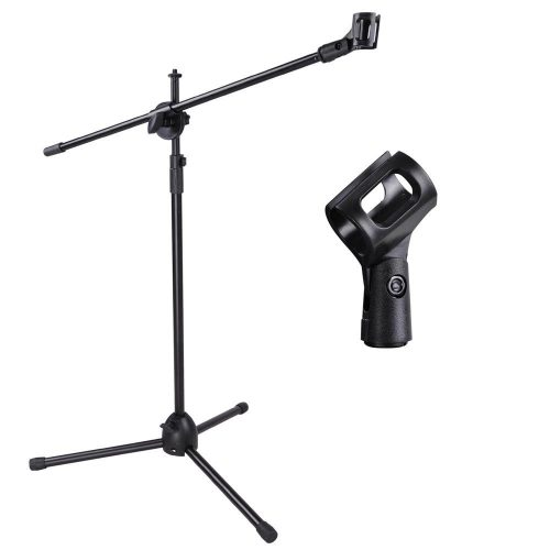 Adjustable Microphone Stand Boom Arm Mic Mount Quarter-turn Clutch Tripod Holder Audio Vocal Stage - best microphone stand