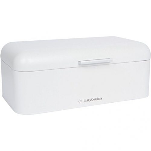 Culinary Couture Large White Bread Box - bread boxes