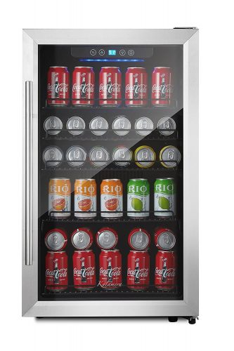 Kalamera 150-can Beverage Refrigerator Stainless Steel Touch Control - best beverage refrigerators