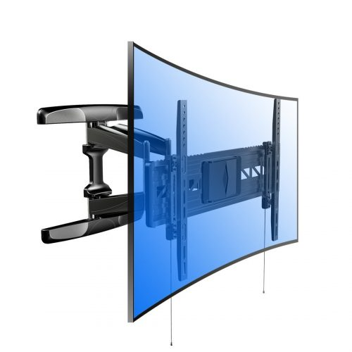 Loctek R2 both Curved and Flat TV Wall Mount Bracket for most of 32-70 Inches LED, LCD, OLED TVs With Articulating Arm Swivel & Tilt Max - Curved and Flat TV Wall Mount Bracket