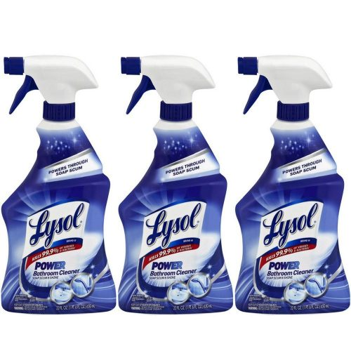 Lysol Power Bathroom Cleaner Trigger, 22 Ounces (Pack of 3) - Automatic Shower Cleaners
