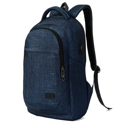 MarsBro Business Travel Water Resistant Polyester 15.6 Inch Laptop Backpack  Blue - 15 inch laptop backpack 98b8f57f42