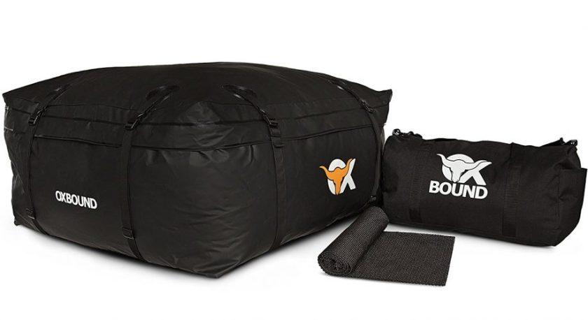 OXBOUND Roof Rack Cargo Bag - Waterproof Car Top Carrier (15 Cubic Ft) - Best Waterproof Roof Top Cargo Bags