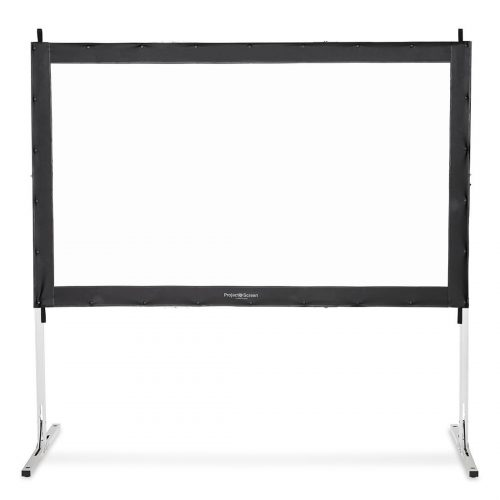"Visual Apex Projector Screen 144"" 4K Portable Indoor/Outdoor Movie Theater Fast-Folding Projector Screen with Stand Legs and Carry Bag HD 16:9 format - Projector Screen with Stands"