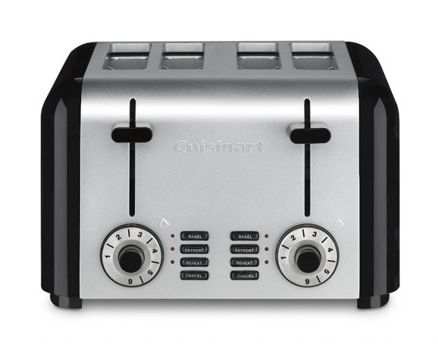 Cuisinart CPT-340 Compact Stainless 4-Slice Toaster, Brushed Stainless - 4 Slice Toaster