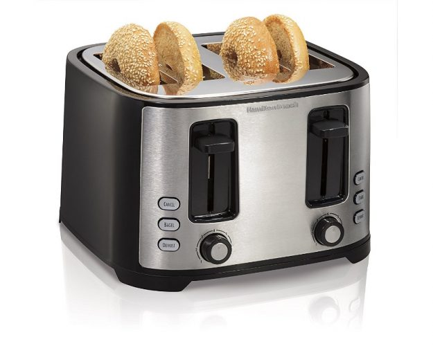 Hamilton Beach Extra-Wide 4-Slice Slot Toaster, Black (24633) - 4 Slice Toaster