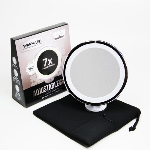 7x Magnifying Lighted Makeup Mirror - Ring Lighted Mirrors