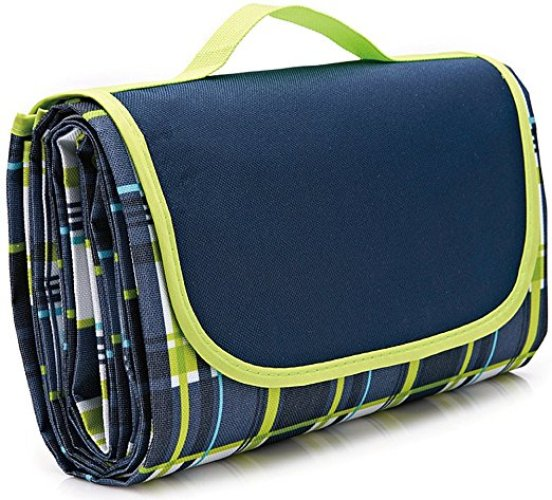 "80×60""Family Picnic Blanket with Tote, Extra Large Foldable and Waterproof Camping Mat for Outdoor Beach Hiking Grass Travel NaturalRays - Picnic Blankets"