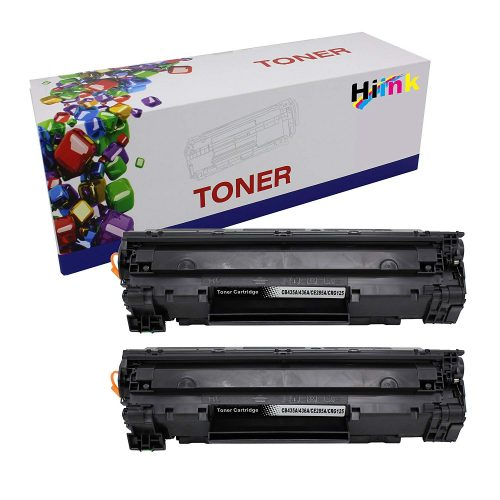 Hi Ink 2 Pack CE285A 85A Toner Cartridge-Black