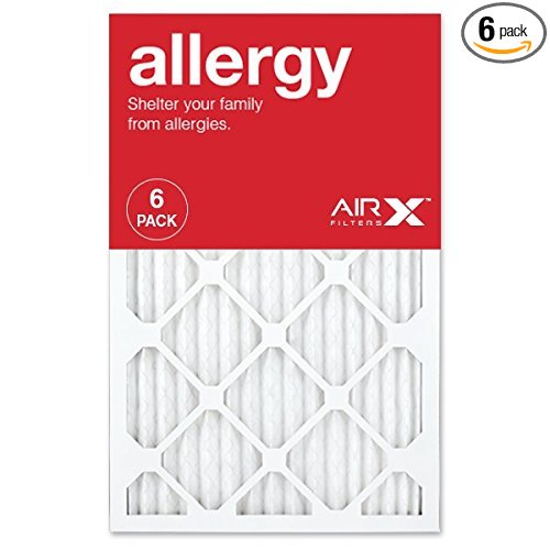 AIRx ALLERGY 16x20x1 MERV 11 Pleated Air Filter - Made in the USA - Box of 6 - Furnace Filters