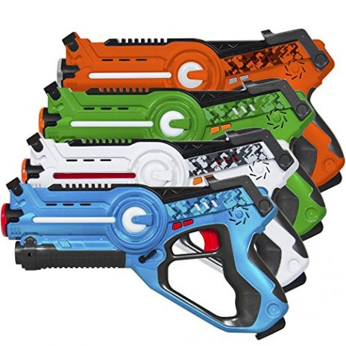Best Choice Products Kids Laser Tag Set Gun Toy Blasters W/ Multiplayer Mode, 4 Pack - Laser Tag Toys