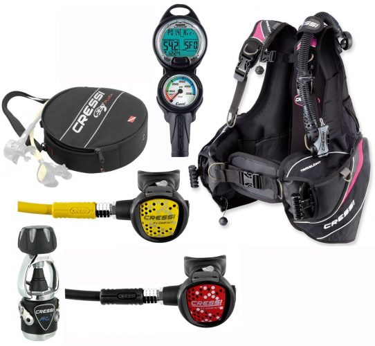 Cressi Trave light Scuba Gear Packages - Scuba Gear Packages