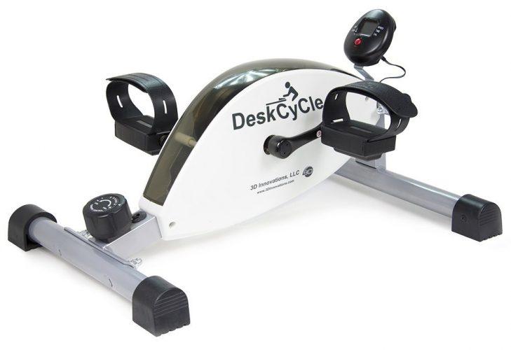 DeskCycle Desk Exercise Bike Pedal Exerciser, White - portable elliptical