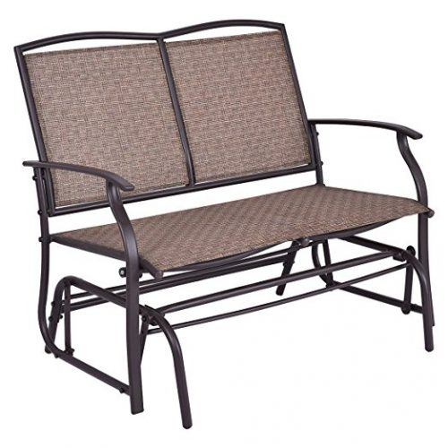 Giantex Patio Glider Bench Outdoor, Swing Loveseat, Patio Swing Rocker Lounge Glider Chair - Patio Gliders