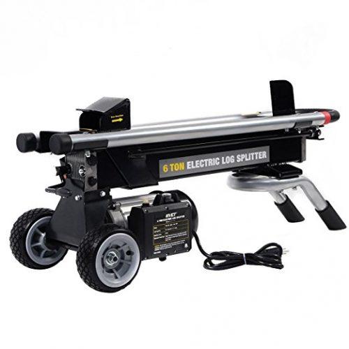 Goplus New 1500W 6 Ton Electric Hydraulic Log Splitter Wood Portable Cutter Powerful - Electric Log Splitters
